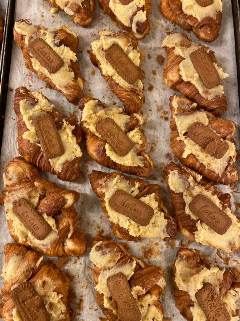 Biscoff twice baked croissant